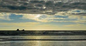 Coucher du soleil de plage de Sooes photos libres de droits