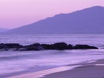 Coucher du soleil de plage du Gibraltar photos stock