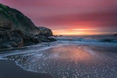 Coucher du soleil de plage de rodéo photo libre de droits