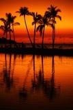 coucher du soleil de plage tropical Image stock