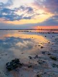 coucher du soleil de plage tropical Images libres de droits