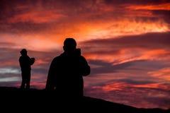 Coucher du soleil de point de Zabriskie Photos libres de droits
