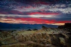 Coucher du soleil de point de Zabriskie, parc national de Death Valley, la Californie photo stock