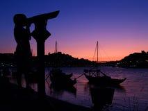 Coucher du soleil de Porto Photos stock
