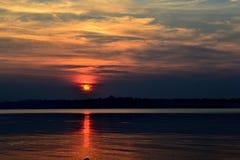 Coucher du soleil de portrait de paysage Photos libres de droits