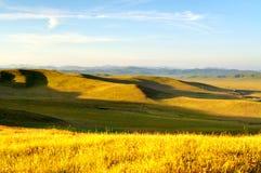 Coucher du soleil de prairie Images libres de droits