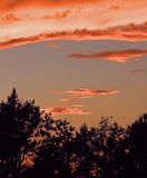 Coucher du soleil de Prarie Photographie stock