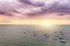 Coucher du soleil de Puerto Vallarta Images libres de droits
