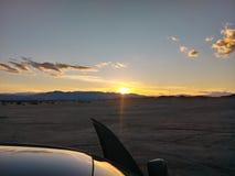 Coucher du soleil de puits d'Ocotillo photos libres de droits