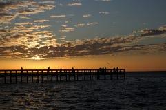 coucher du soleil de punta de gorda Image libre de droits