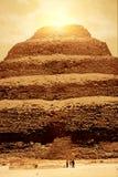 coucher du soleil de pyramide Image stock