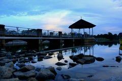 Coucher du soleil de réservoir de Singapour Pierce Photo stock