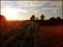 Coucher du soleil de ressort Photographie stock