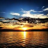 Coucher du soleil de rivière de crainte de cap photos libres de droits