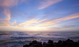 Coucher du soleil de roche de crêpe Image libre de droits