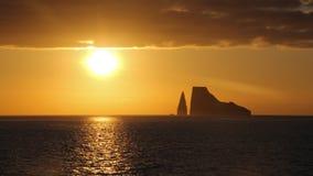 Coucher du soleil de roche de joueur Photos libres de droits