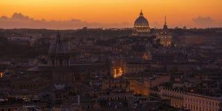 Coucher du soleil de Rome photos stock