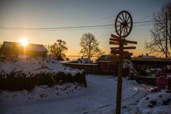 Coucher du soleil de Rostov Photo libre de droits