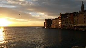 Coucher du soleil de Rovinj photographie stock libre de droits