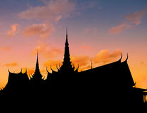 Coucher du soleil de Royal Palace Photos libres de droits