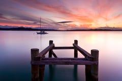Coucher du soleil de Russell Photographie stock libre de droits