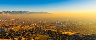 Coucher du soleil de Salt Lake Photos libres de droits