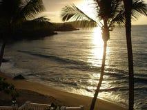Coucher du soleil de Samana Photos libres de droits