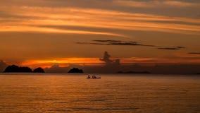 Coucher du soleil de samui Thaïlande de KOH photographie stock libre de droits
