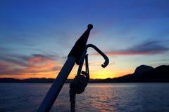 Coucher du soleil de San Antonio Javea Xabia de cap de mer Images stock