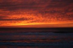 Coucher du soleil de San Diego Photos stock