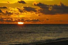Coucher du soleil de Sanibel Photo libre de droits