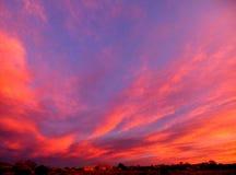 Coucher du soleil de Santa Fe Photos libres de droits