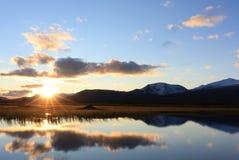 Coucher du soleil de Sarek Photos libres de droits