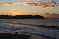 Coucher du soleil de Sayulita photos stock