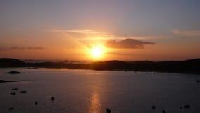 Coucher du soleil de Scilly Images libres de droits