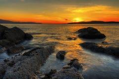 Coucher du soleil de Scoltland Images libres de droits