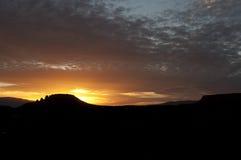 Coucher du soleil de sedona de roche de lézard Photo libre de droits