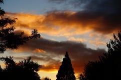 Coucher du soleil de septembre Photographie stock