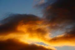 Coucher du soleil de septembre Photos libres de droits