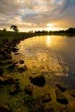 coucher du soleil de shannon Photo stock