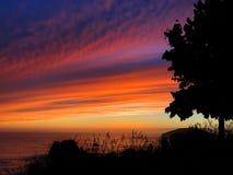 Coucher du soleil de silhouette Image libre de droits