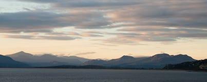 Coucher du soleil de Snowdonia Pays de Galles Images libres de droits