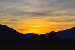 Coucher du soleil de soirée Image stock