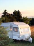 Coucher du soleil de soirée de caravane Photo libre de droits