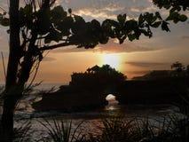 Coucher du soleil de sort de Tanah Photos libres de droits