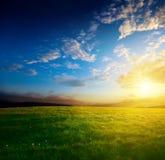 Coucher du soleil de source Image libre de droits