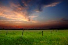 Coucher du soleil de source Photo libre de droits