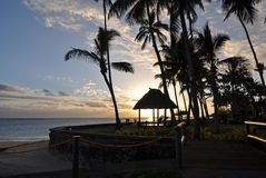 Coucher du soleil de South Pacific Photographie stock