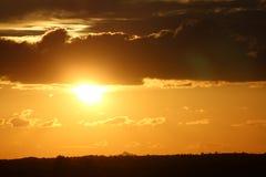 Coucher du soleil de sépia Images stock