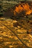Coucher du soleil de Spitskoppe Photos libres de droits